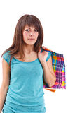 Beautiful shopping woman Stock Images