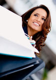 Beautiful shopping woman Stock Image