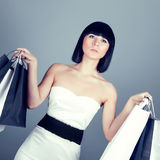 Beautiful shopping woman Royalty Free Stock Images