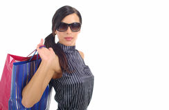 Beautiful Shopping woman Royalty Free Stock Photo