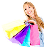 Beautiful shopping woman Stock Photos