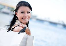Beautiful shopping woman Royalty Free Stock Photos