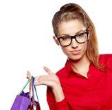 Beautiful shopping woman Royalty Free Stock Photos