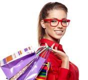 Beautiful shopping woman Stock Photo