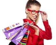 Beautiful shopping woman Royalty Free Stock Photo