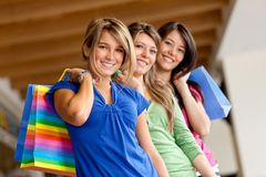 Beautiful shopping women Royalty Free Stock Image