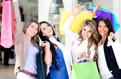 Beautiful shopping women Stock Photography