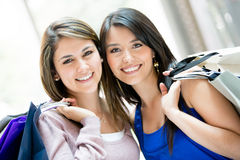 Beautiful shopping women Stock Photo