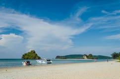 Beautiful shore at Krabii, Thailand. Royalty Free Stock Images