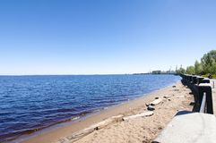 The beautiful shore of lake Onego in Petrozavodsk on summer. Russia. The beautiful shore of lake Onego in Petrozavodsk on summer, Russia Stock Photo