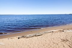 The beautiful shore of lake Onego in Petrozavodsk on summer. Russia. The beautiful shore of lake Onego in Petrozavodsk on summer, Russia Royalty Free Stock Photo