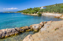 A beautiful shore near Amaliapoli, Greece Stock Photography