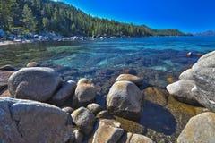 Beautiful Shoreline of Lake Tahoe Stock Photography