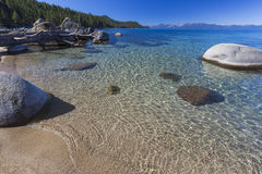 Beautiful Shoreline of Lake Tahoe Stock Image