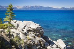 Beautiful Shoreline of Lake Tahoe Stock Images