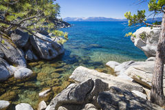 Beautiful Shoreline of Lake Tahoe Royalty Free Stock Image