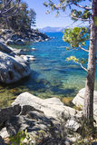 Beautiful Shoreline of Lake Tahoe Royalty Free Stock Photography