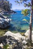 Beautiful Shoreline of Lake Tahoe Royalty Free Stock Photography
