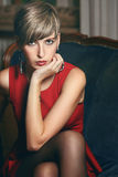 Beautiful short hair model portrait Stock Photography