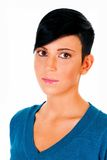 Beautiful short haired young Caucasian woman Stock Photography