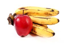 Apple and banana Stock Images