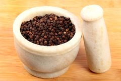 Black pepper. Beautiful shot of black pepper in grinder stock images