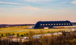 Beautiful Shot of Blimp Hanger Royalty Free Stock Images