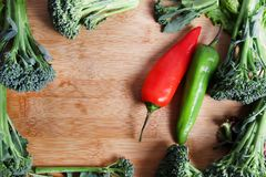 Pepper and broccoli Royalty Free Stock Images