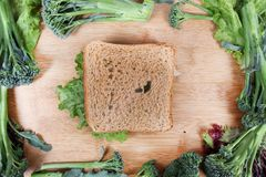 Brown bread sandwich Royalty Free Stock Photos