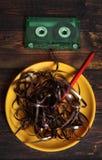 Music cassette stock photo