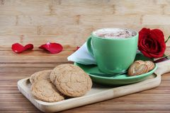 Coconut biscuits and coffee Stock Image