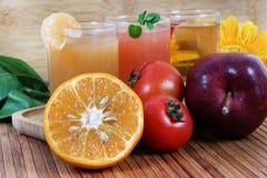 Citrus juices. Beautiful shot of fresh citrus juices stock photo