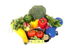 Vegan diet. Beautiful shot of fresh vegetables on white background Royalty Free Stock Images