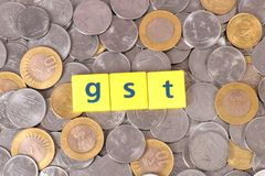 Gst tax Royalty Free Stock Image