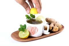 Lemon and ginger tea Royalty Free Stock Images