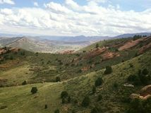 Red Rocks Colorado Hiking stock images