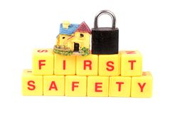 Home safety royalty free stock photo