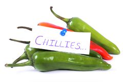 Hot chillies Stock Images