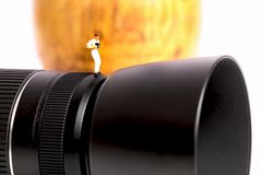 Macro photographer Royalty Free Stock Photography