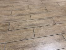 Beautiful shot of the newly installed modern tile floor royalty free stock images