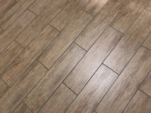 Beautiful shot of the newly installed modern tile floor royalty free stock photography