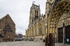 Beautiful shot of the Old Cathedral or Basilica of Our Lady in Tongeren, Belgium