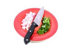 Cut onion Royalty Free Stock Photos