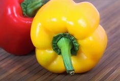 Organic bell-peppers Stock Images
