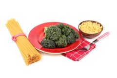 Pasta and broccoli Royalty Free Stock Photography