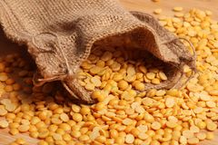 Yellow lentil Royalty Free Stock Photo