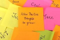 Positive quote royalty free stock photo