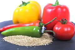 Hot and spicy quinoa Stock Image