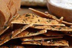 Salty crisps. Beautiful shot of salty crisps made of wheat royalty free stock photos