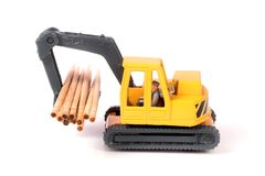 Loader toy royalty free stock photo